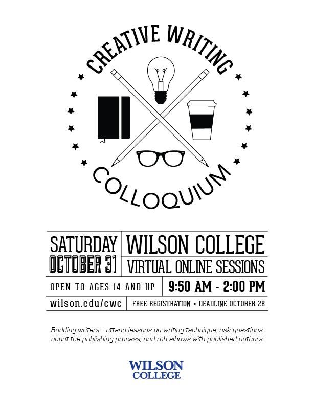 2020 Creative Writing Colloquium poster
