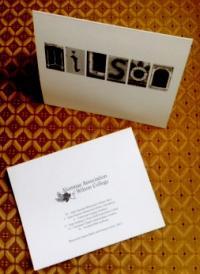 Wilson Letter Art Notecards $10