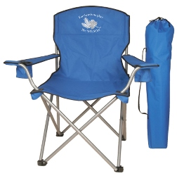 Collapsible stadium folding chair with carry case, armrests and 2 cup-holders - $25 each