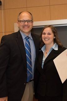 Jessica Meck '15 with Professor Dana Harriger.