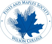 Pines and Maples logo blue oval